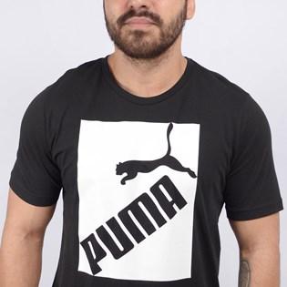 Camiseta Puma Masculina Big Logo Tee Black 58138601