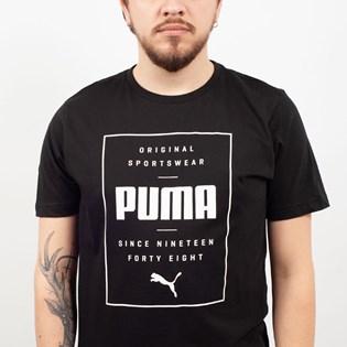 Camiseta Puma Masculina Box Tee Preto 85407601