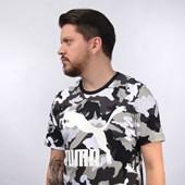 Camiseta Puma Masculina Classics Graphics Tee AOP Preto Camuflado 59526101