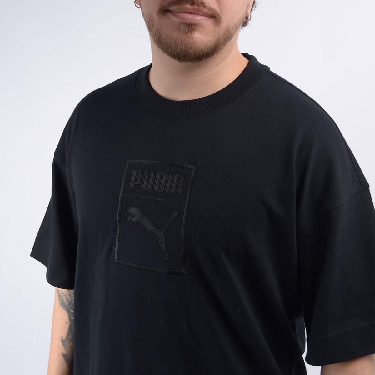 Camiseta Puma Masculina Downtown Tee Black 57671201