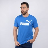 Camiseta Puma Masculina ESS Logo Tee Royal 85174010
