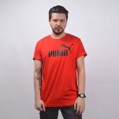 Camiseta Puma Masculina Essential Tee Vermelho 85174005