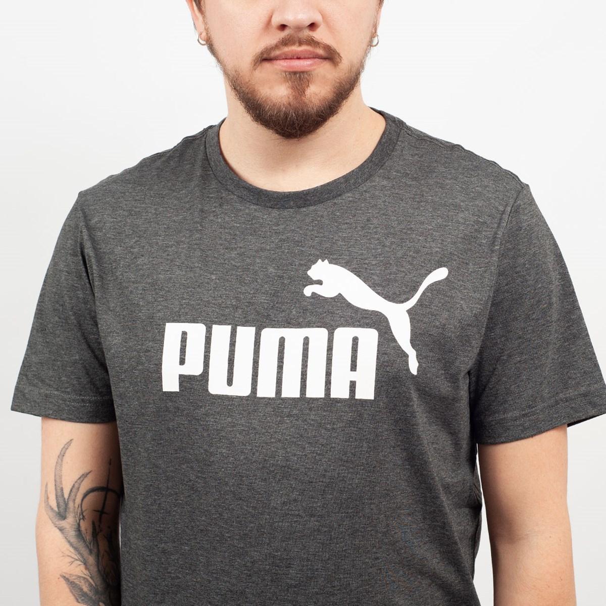 Camiseta Puma Masculina Essentials Heather Tee Preto 85241901