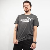 Camiseta Puma Masculina Essentials Heather Tee Preto 85241901