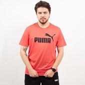 Camiseta Puma Masculina Essentials Heather Tee Vermelho 85241911