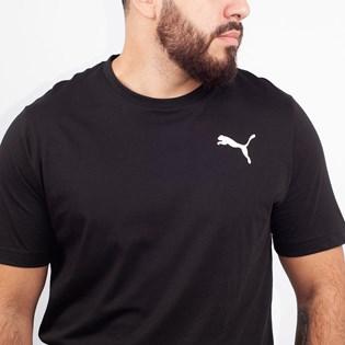 Camiseta Puma Masculina Essentials Tee Black Cat 85174101