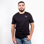 Camiseta Puma Masculina Essentials Tee Black Cat 85174101