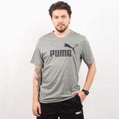 Camiseta Puma Masculina Essentials Tee Cinza 85174003