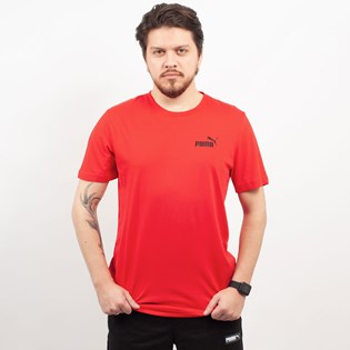 Camiseta Puma Masculina Essentials Tee Red 85174105