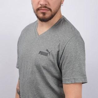 Camiseta Puma Masculina Essentials+ V Neck Tee Cinza 85242103