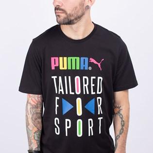 Camiseta Puma Masculina Graphic Tee TFS Black 59716701