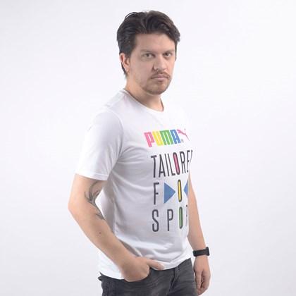 Camiseta Puma Masculina Graphic Tee TFS White 59716702
