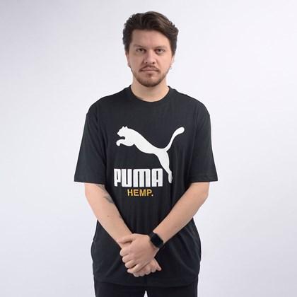 Camiseta Puma Masculina Hemp Tee Black 59662001