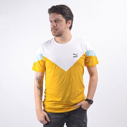 Camiseta Puma Masculina Iconic MCS Tee Golden Rod 59644425