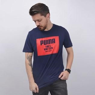 Camiseta Puma Masculina Rebel Block Basic Tee Marinho 85239506