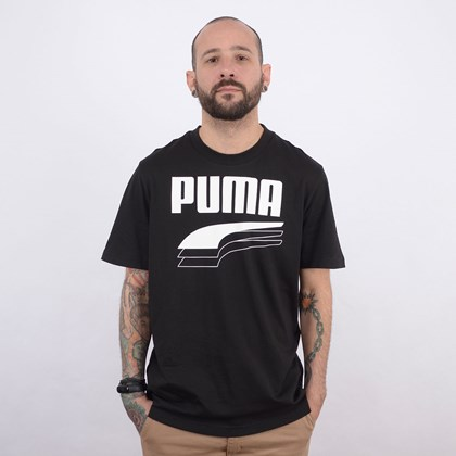 Camiseta Puma Masculina Rebel Bold Tee Black 58135601