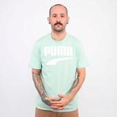 Camiseta Puma Masculina Rebel Bold Tee Mist Green 58135632