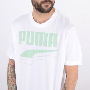 Camiseta Puma Masculina Rebel Bold Tee White Mist Green 58135662