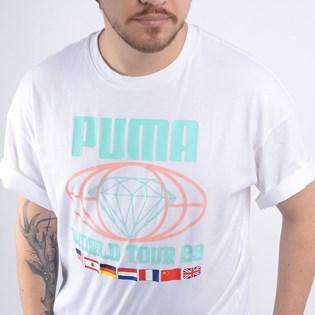 Camiseta Puma Masculina X Diamond Tee White 57823202