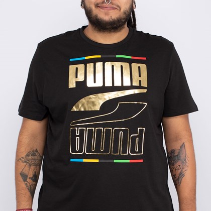 Camiseta Puma Rebel 5 Continents Black 584607-01