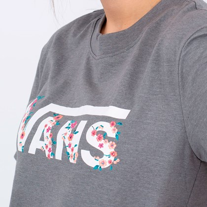 Camiseta Vans Bundlez Boxy Tee Grey Heather VN0A4UMNGRH