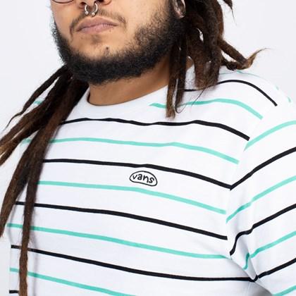 Camiseta Vans Color Multiplier SS Knit White VN0A54BLWHT