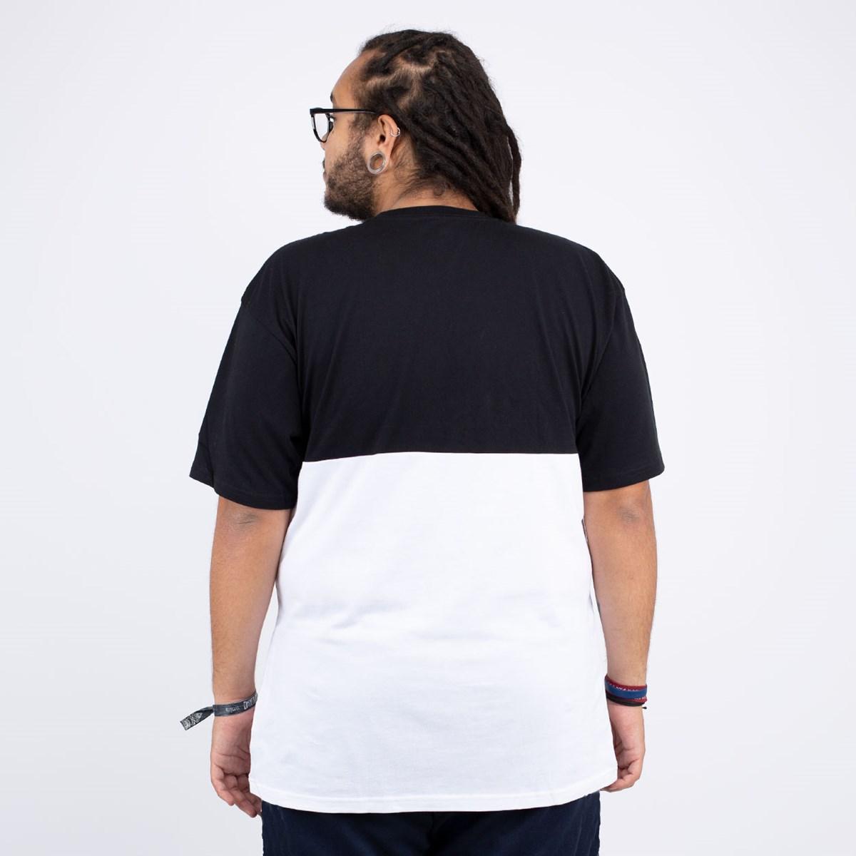 Camiseta Vans Colorblock Tee White Black VN0A3CZDYB2