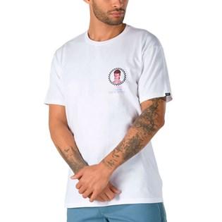 Camiseta Vans David Bowie Manga Curta Aladdin Sane SS White VN0A3WCOWHT