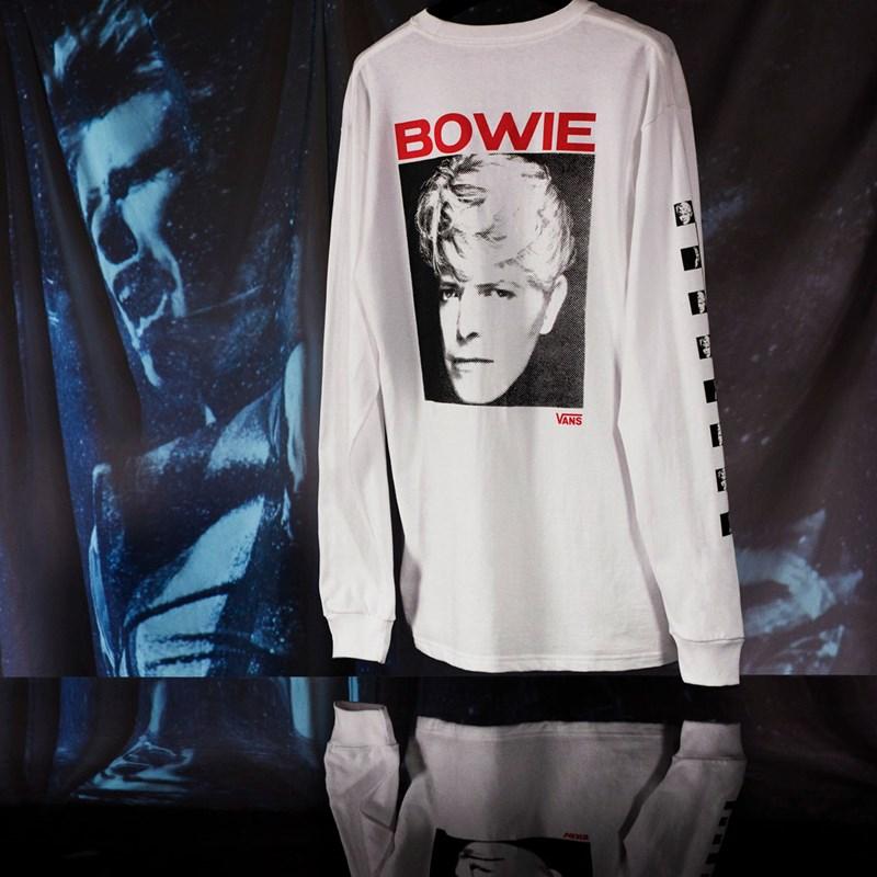 Camiseta Vans David Bowie Manga Longa SS White VN0A3WCQWHT
