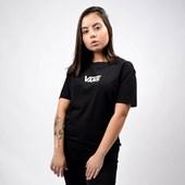 Camiseta Vans Feminina Airborne V Boxy Tee Black VN0A4DNVBLK