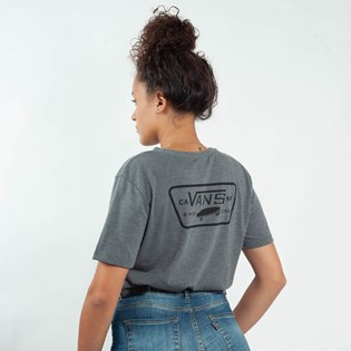 Camiseta Vans Feminina Full Patch Crew Asphalt Heather VNB14AK6O8W