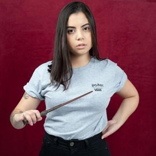 Camiseta Vans Feminina Harry Potter Crest SS Boys Athletic Heather VN0A459NATH