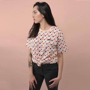 Camiseta Vans Feminina Manga Curta Breast Cancer Oversized Tee Creme De Peche VN0A4MCBZTT