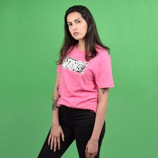 Camiseta Vans Feminina Manga Curta Lady Fill Diy Azalea Pink VN0A47Y4JBT