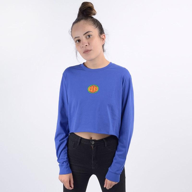 Camiseta Vans Feminina Ovaloid Royal Blue VN0A4DOQRYB