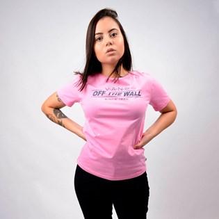Camiseta Vans Feminina Sign Up Fuchsia Pink VN0A4MGFUNU