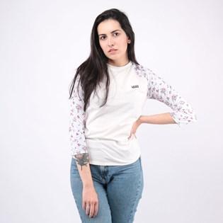 Camiseta Vans Feminina Tay Luh Raglan Marshmallow Beauty Floral VN0A4N5LZKE