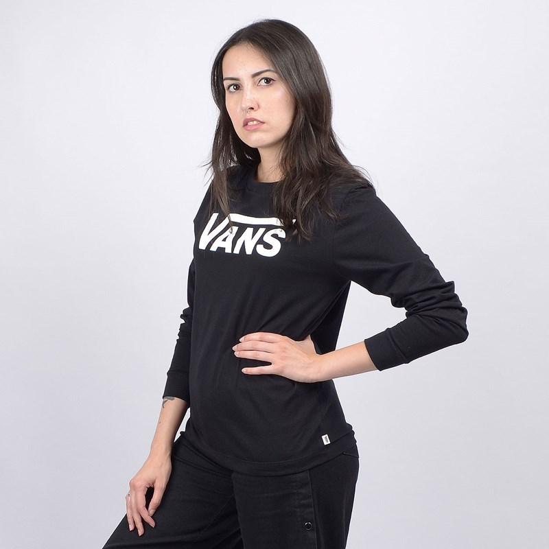 Camiseta Vans Feminina WN Flying V Classic LS BF Black VN0A47WNBLK