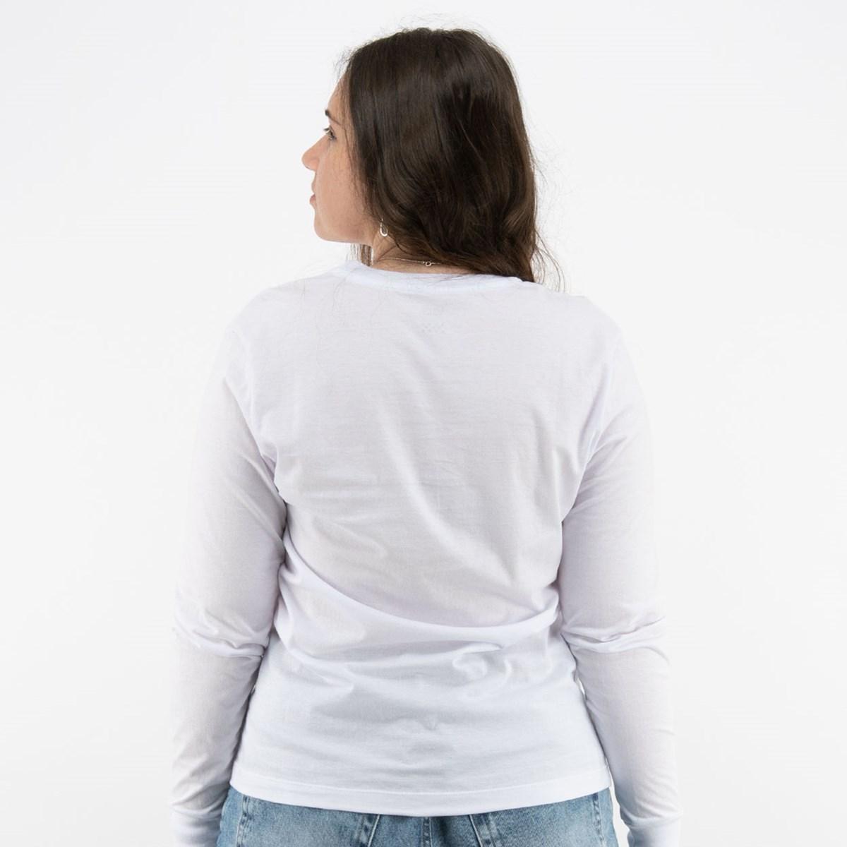Camiseta Vans Feminina WN Flying V Classic LS BF White VN0A47WNWHT