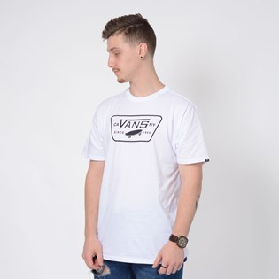 Camiseta Vans Full Patch White White Black VNB00QN8WHT