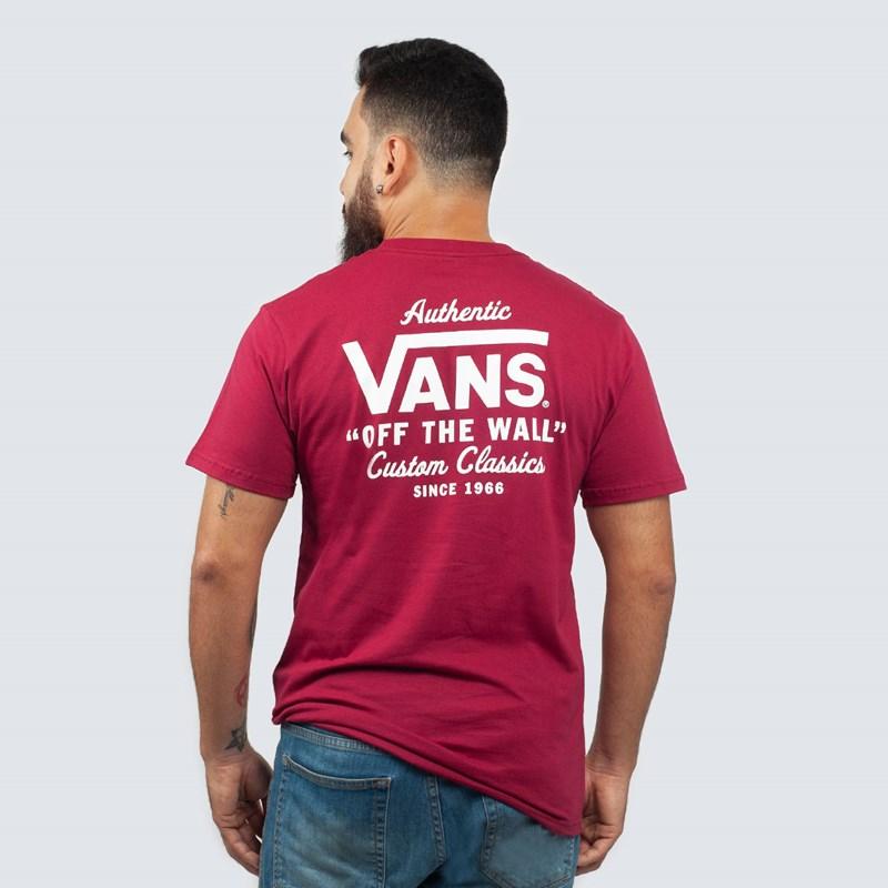 9b235e7cc8d6e Camiseta Vans Holder Street II Rhumba Red White VNBA36O1TDA - Loja Virus