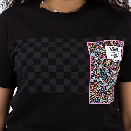 Camiseta Vans Liberty Fabrics Tee Black Checkerboard VN0A5FSEZE9