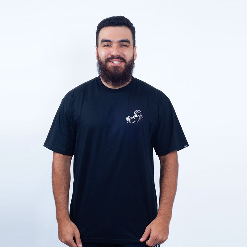 Camiseta Vans Masculina Classic Og Skunk Black VNBA3VZYBLK