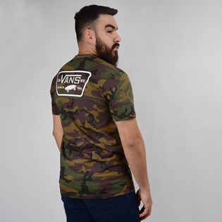 Camiseta Vans Masculina Custom Full Patch Back SS Camo White VN0A3H5KC9H
