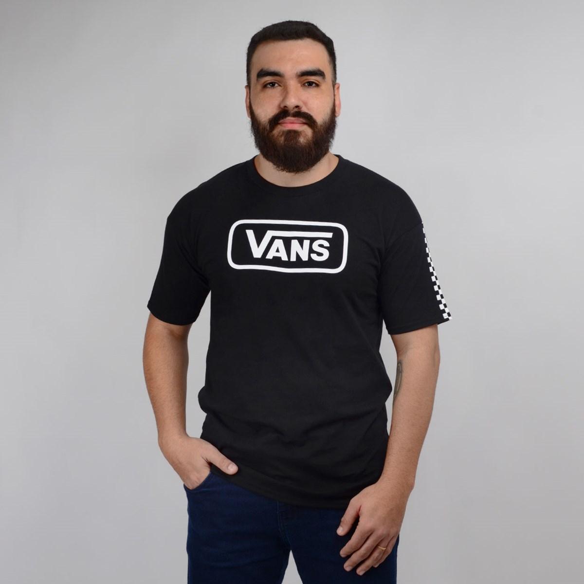 Camiseta Vans Masculina Manga Curta Fun Badge OS SS Black VN0A47WPBLK