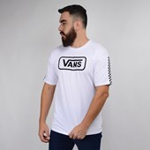 Camiseta Vans Masculina Manga Curta Fun Badge OS SS White VN0A47WPWHT