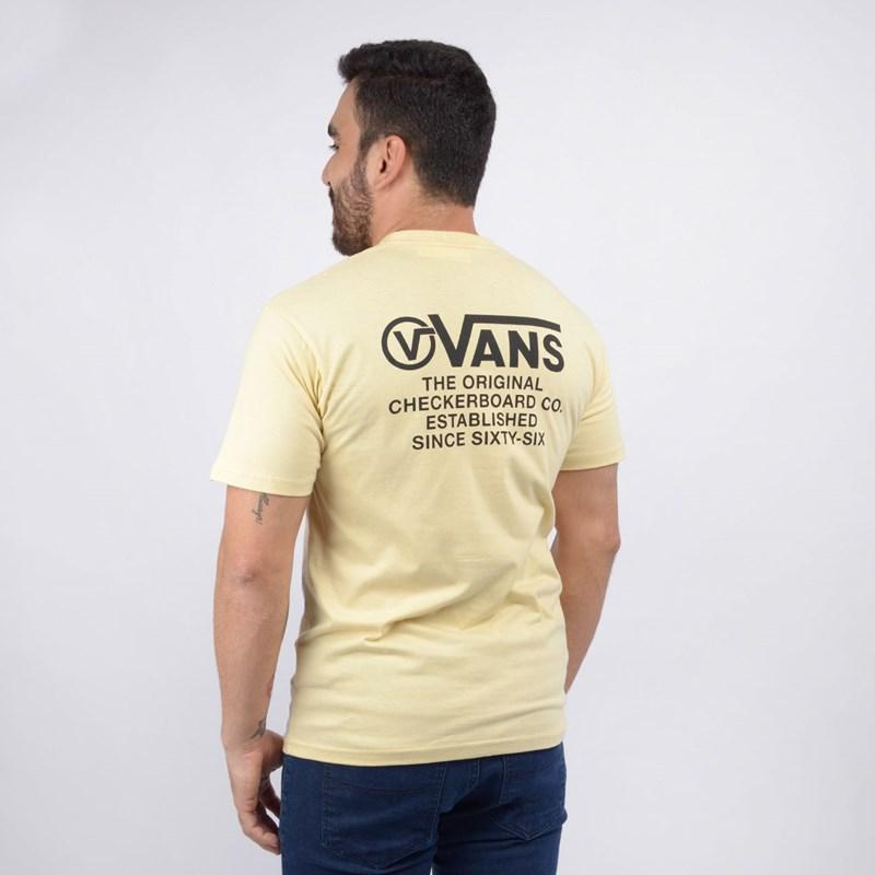 Camiseta Vans Masculina MN Distortion Type SS Double Cream VN0A49PVYKA