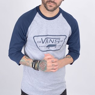 Camiseta Vans Masculina MN Full Patch Raglan Athletic Heather VN0A4BT4KOO