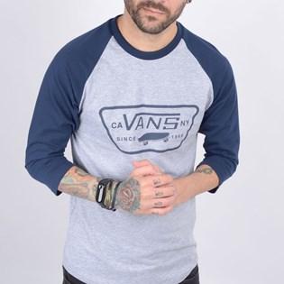 Camiseta Vans Masculina MN Full Patch Raglan Athletic Heather VN0A4BT4KOO
