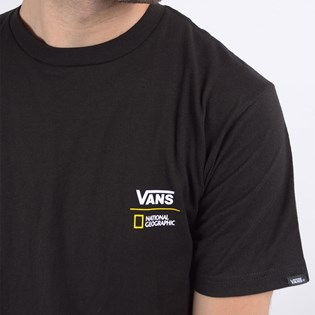 Camiseta Vans Masculina National Geographic Globe SS Black VN0A4MSHBLK